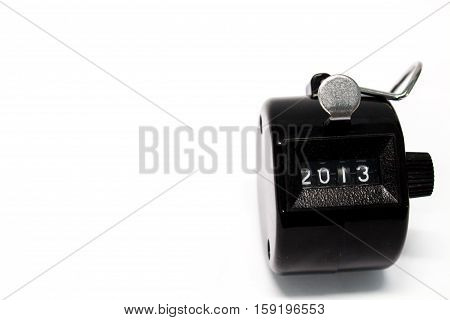 Year 2013 Counter on isolated white background