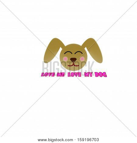 dog head design  love me love my dog icon vector