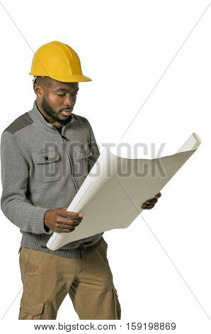 Black man African American Construction Worker on a job site.