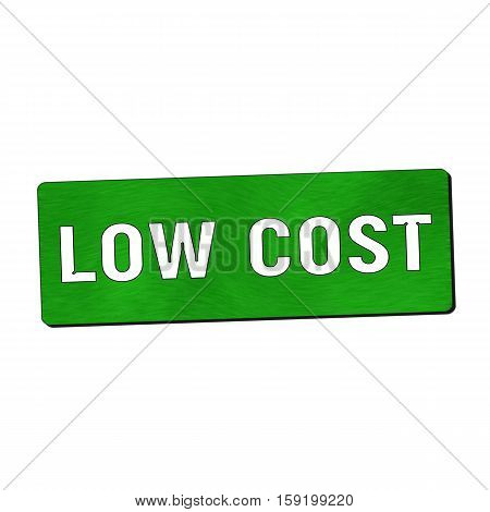 Low cost white wording on green wood background