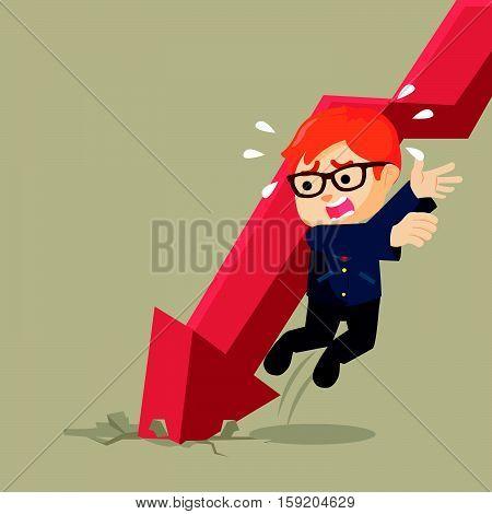 evading falling graphic eps10 vector illustration design