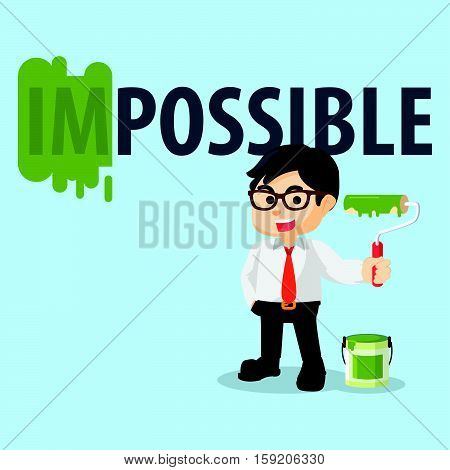 employee repainting impossible word eps10 vector illustration design