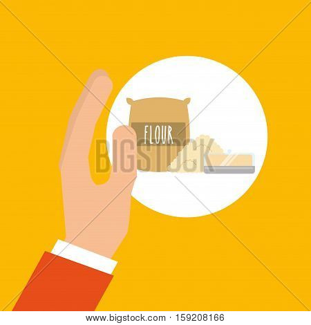 bakery cooking hand flour and butter vector illustration eps 10
