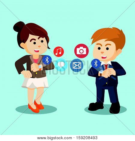 enterpreneuer bluetooth with smartwatch eps10 vector illustration design