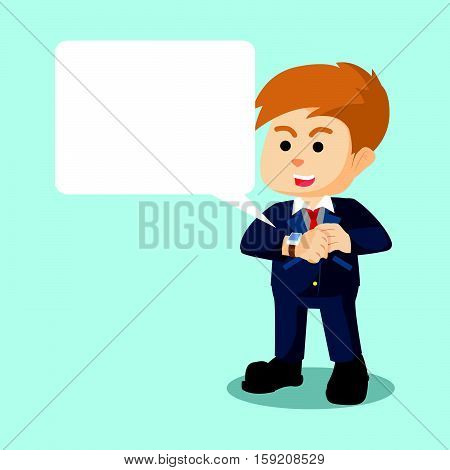 businessman with smartwatch callout eps10 vector illustration design