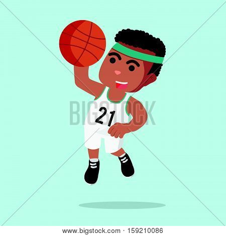 a man basketball slam dunk illustration design
