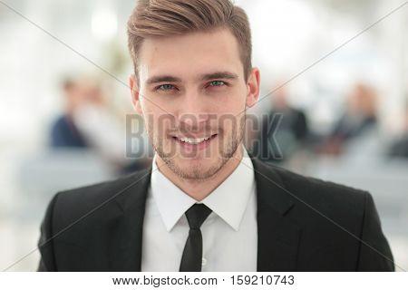Portrait of happy smiling  business man