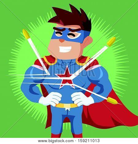 superhero bullet proof eps10 vector illustration design