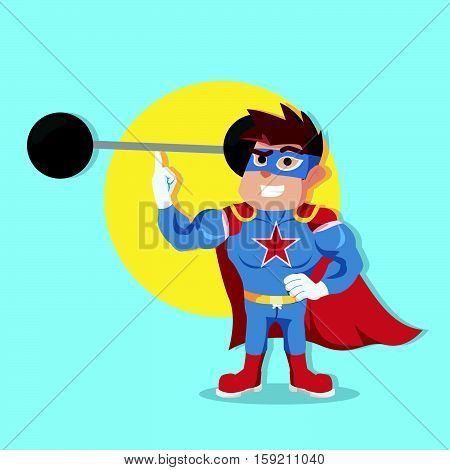 superhero easyly lifting weight eps10 vector illustration design