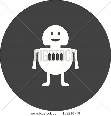 Robot, software, laptop icon vector image. Can also be used for software development. Suitable for mobile apps, web apps and print media.