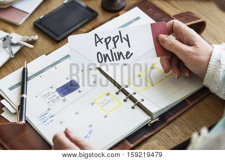 Apply Online Registration Application Networking Online Concept