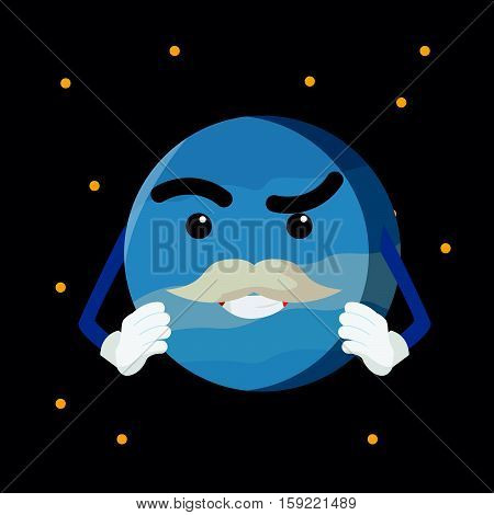 uranus planet  cartoon eps10 vector illustration design