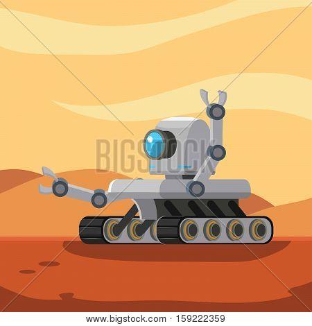 mars rover robot eps10 vector illustration design