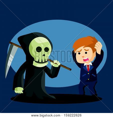 grim reaper want to taking soul illustration design
