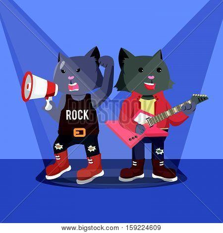 rock star cats guitarist and vocalist concert