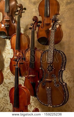 Wooden violin is very special musical instrument for Stradivarius