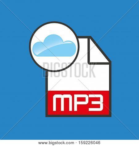 cloud music concept file mp3 vector illustration eps 10