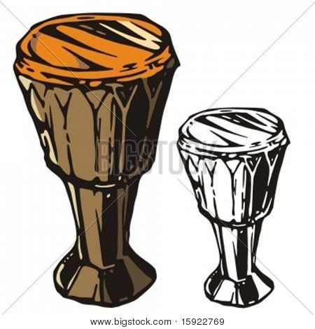 Music Instrument Series. Vector illustrations of a drum.