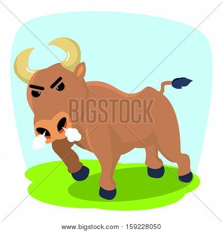 bull ready to charging eps10 vector illustration design