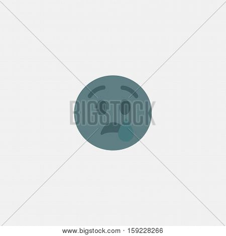 unhappy emoji vector icon isolated on white background
