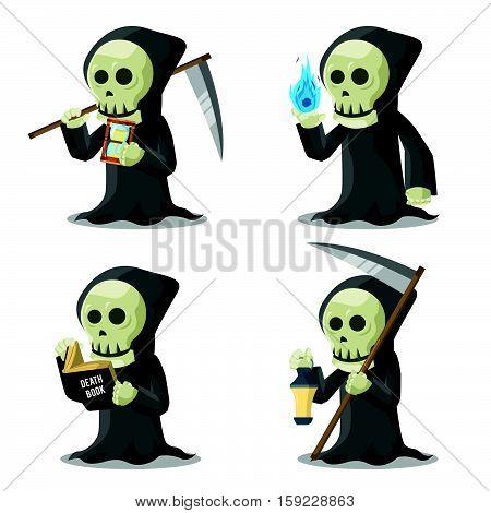 grim reaper set eps10 vector illustration design