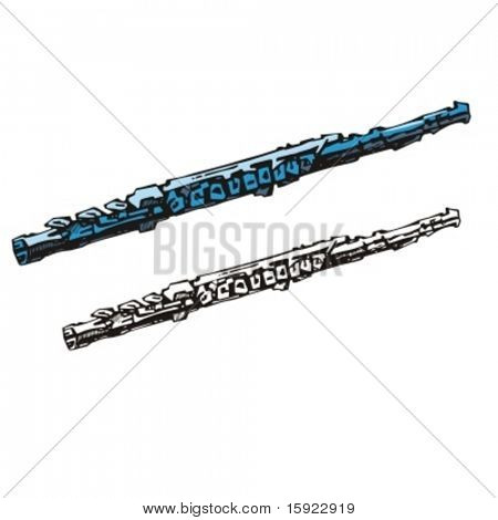 Music Instrument Series. Vector illustration of a clarinet.