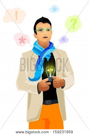 Vector illustration of a creative and modern director
