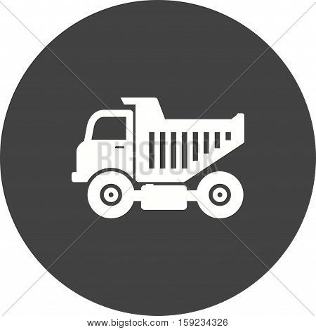 Truck, tipper, dump icon vector image. Can also be used for Industrial Process. Suitable for mobile apps, web apps and print media.