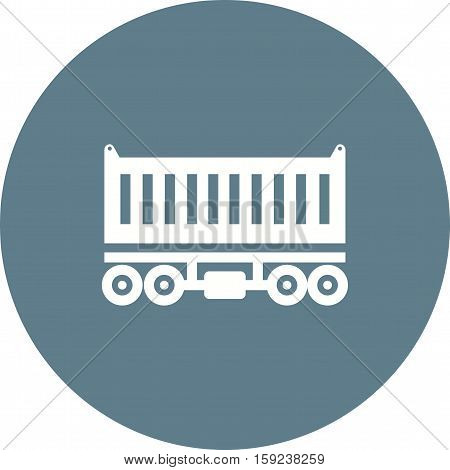 Wagon, cargo, container icon vector image. Can also be used for Industrial Process. Suitable for mobile apps, web apps and print media.