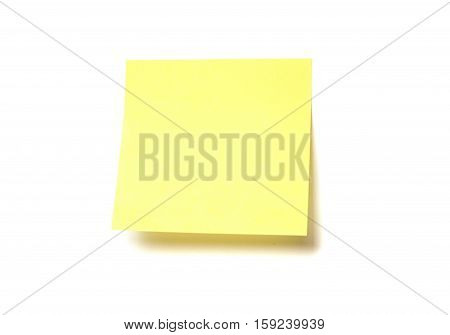 Yellow post-it isolated on a white background