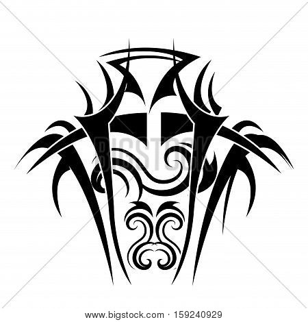 tribal ethnic tatto icon vector illustration design