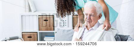 Taking Care Of Elder Man