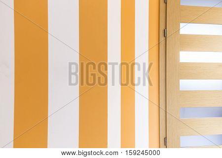 Striped Yellow Wall