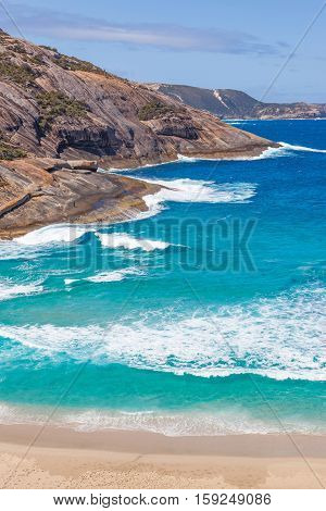 Salmon Holes Beach in Torndirrup National Park near the town of Albany in Western Australia.