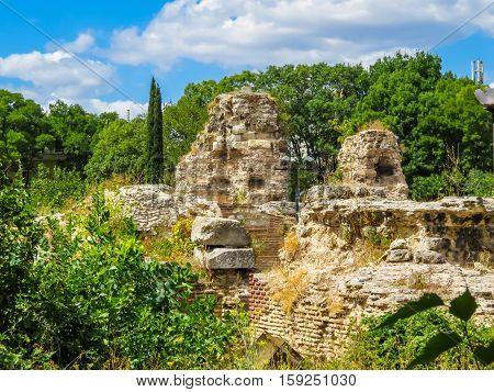 Roman Baths ruins of the ancient Roman Thermae. Varna, Bulgaria