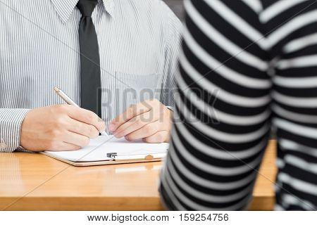 Appointment with office manager Job interview Hiring