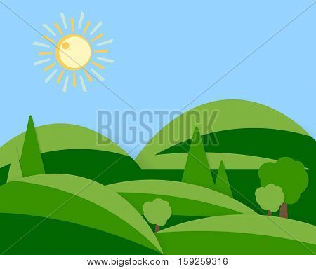 vector flat design. Illustration of the summer vacation. elements for your design. Eps10