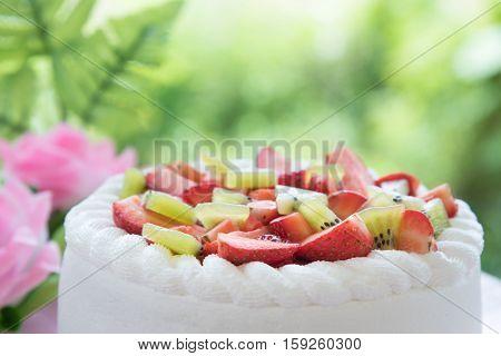 Strawberry And Kiwi Shortcake