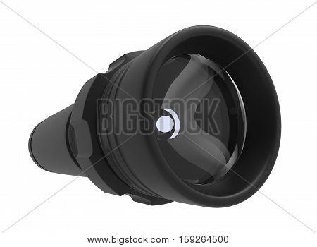 3d illustration of flashlight. white background isolated. icon for game web.