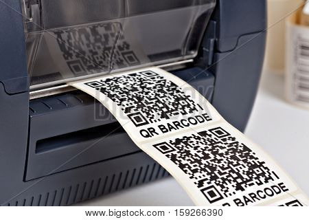 Barcode label printer.Barcode for use - no copyright issues as constructed.