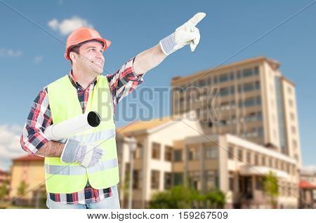 Architect With Construction Project