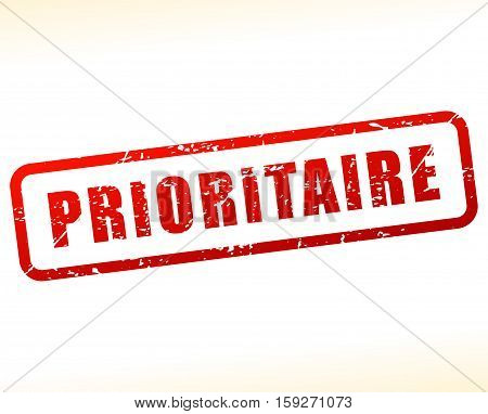 Illustration of priority buffered on white background