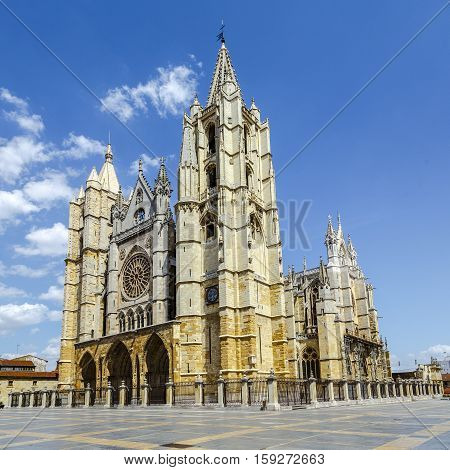 Gothic Cathedral of Leon Spain Europe castilla