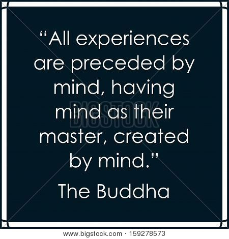 Buddha quote. Life inspirational buddhist quotation box vector frame with text
