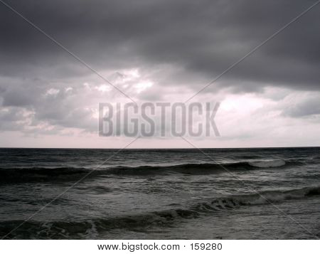A Stormy Evening On The Ocean