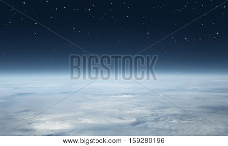 Planet earth seen above with copy space