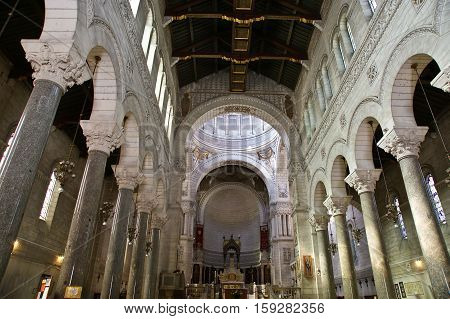 Interior Of The Basilica Of Saint-martin, Tours, France