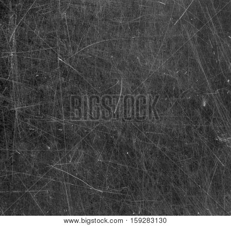 Scratched glass surface. Black and white