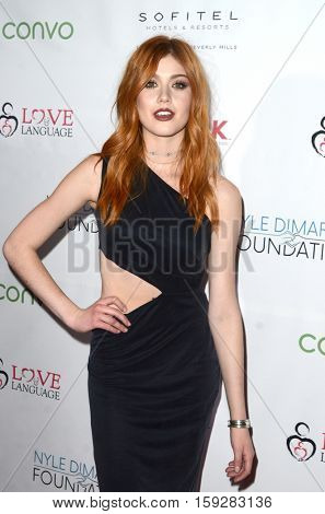 LOS ANGELES - NOV 30:  Katherine McNamara at the Nyle DiMarco Foundation Love & Language Kickoff Campaign 2016 at Sofitel Hotel on November 30, 2016 in Beverly Hills, CA