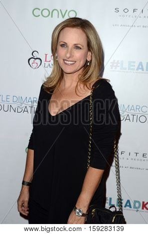 LOS ANGELES - NOV 30:  Marlee Matlin at the Nyle DiMarco Foundation Love & Language Kickoff Campaign 2016 at Sofitel Hotel on November 30, 2016 in Beverly Hills, CA